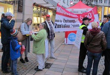 NW-Zusteller protestieren gegen Scheinverhandlungen
