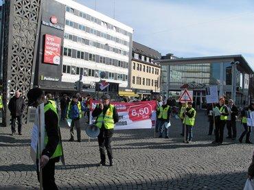 ver.di-Aktion NW Bielefeld